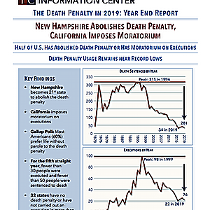 DPIC 2019 Year End Report: Death Penalty Erodes Further As New Hampshire Abolishes and California Imposes Moratorium