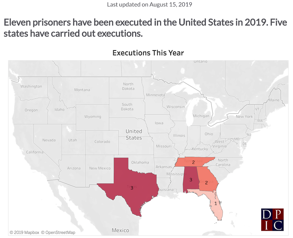 Death-Penalty News and Developments for the Week of August 12 – 18, 2019: Tennessee Executes Stephen West