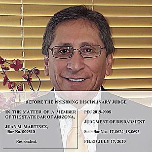 News Brief — Arizona Disbars Former Maricopa County Homicide Prosecutor Juan Martinez