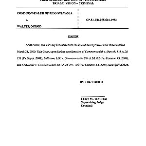 News & Developments — Philadelphia Court Vacates Order for Medical Treatment of 'Likely Innocent' Death-Row Prisoner With COVID-19 Symptoms