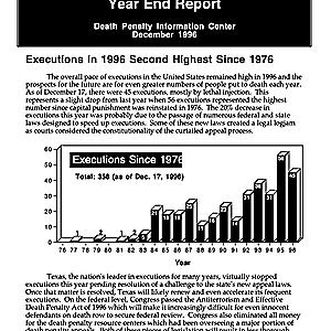 The Death Penalty in 1996: Year End Report