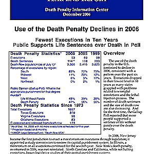 The Death Penalty in 2006: Year End Report