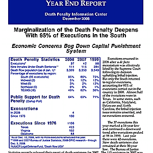 The Death Penalty in 2008: Year End Report