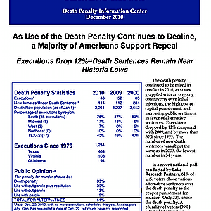 The Death Penalty in 2010: Year End Report
