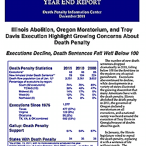 The Death Penalty in 2011: Year End Report