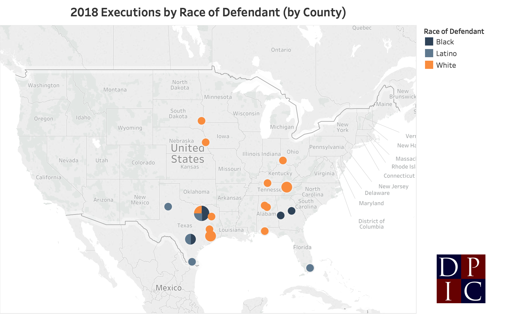 List of offenders executed in the United States in 2018