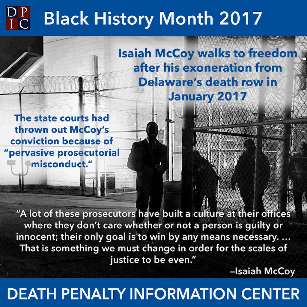 February 16, 2017 The exoneration of Isaiah McCoy