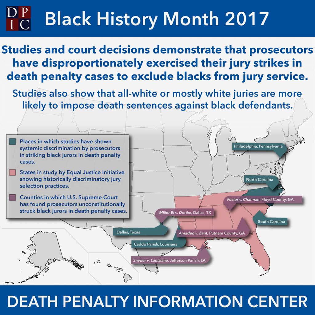 February 27, 2017: Race Discrimination is Pervasive in Jury Selection in Death Penalty Cases