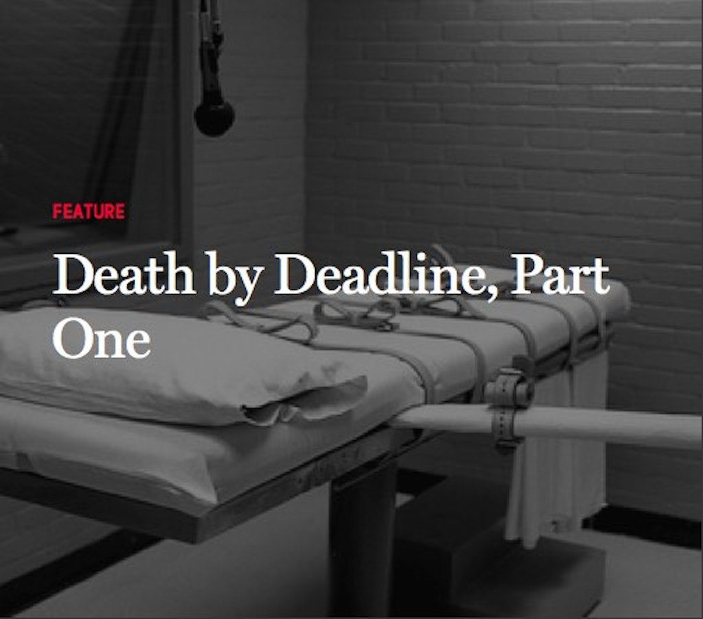 STUDIES: Lawyers for Death Row Inmates Missed Critical Filing Deadlines in 80 Cases