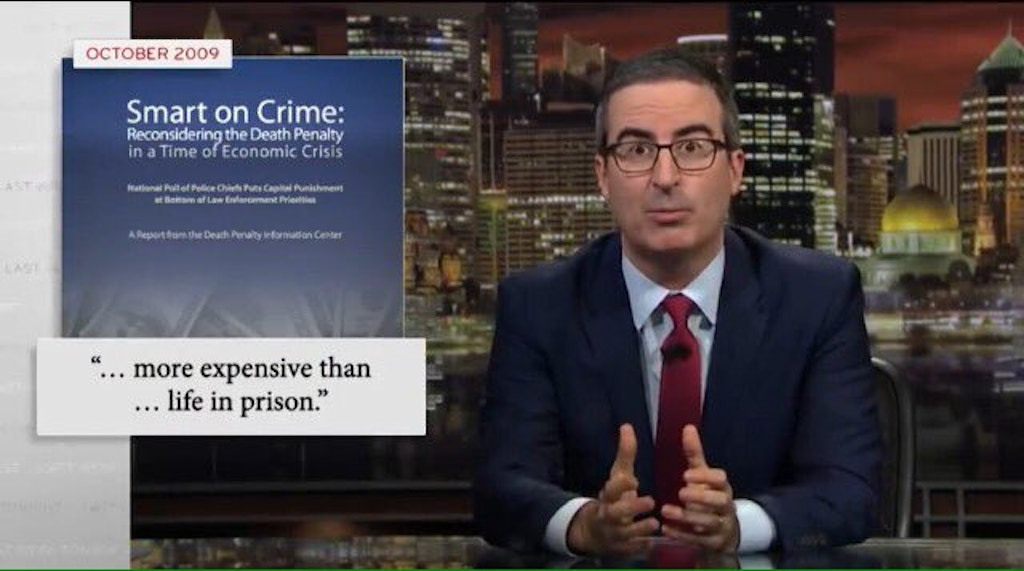 "John Oliver's ""Last Week Tonight"" Takes a Satirical Look at Lethal Injection"