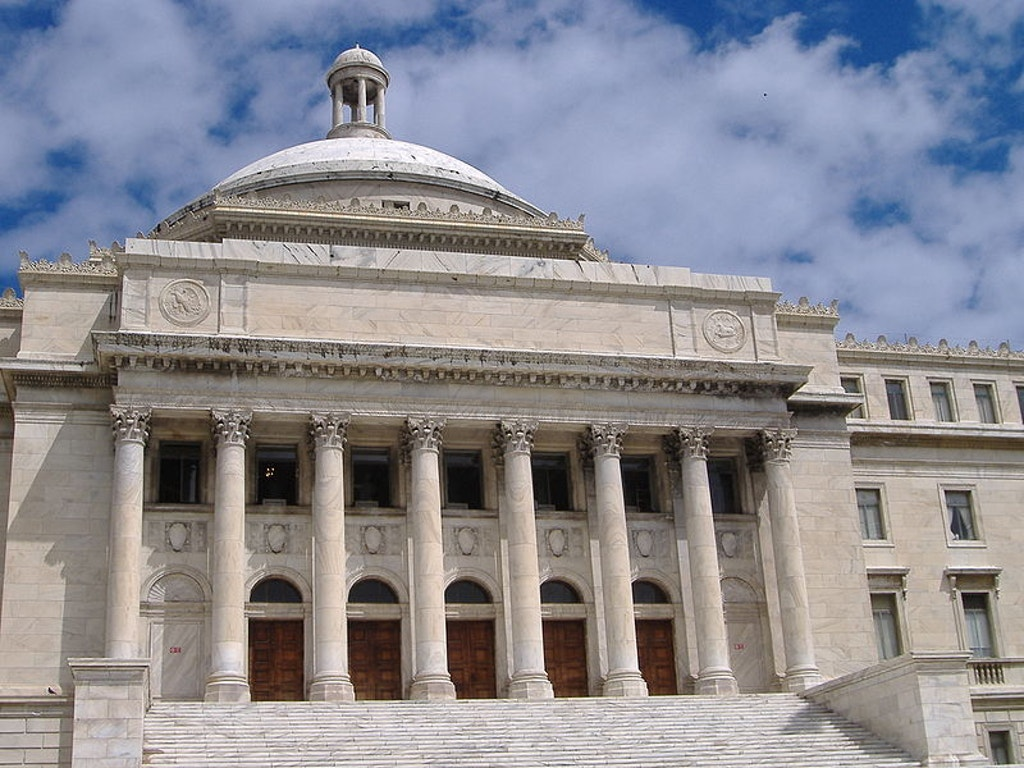 Puerto Rico Capitol building. Photo by Mtmelendez.