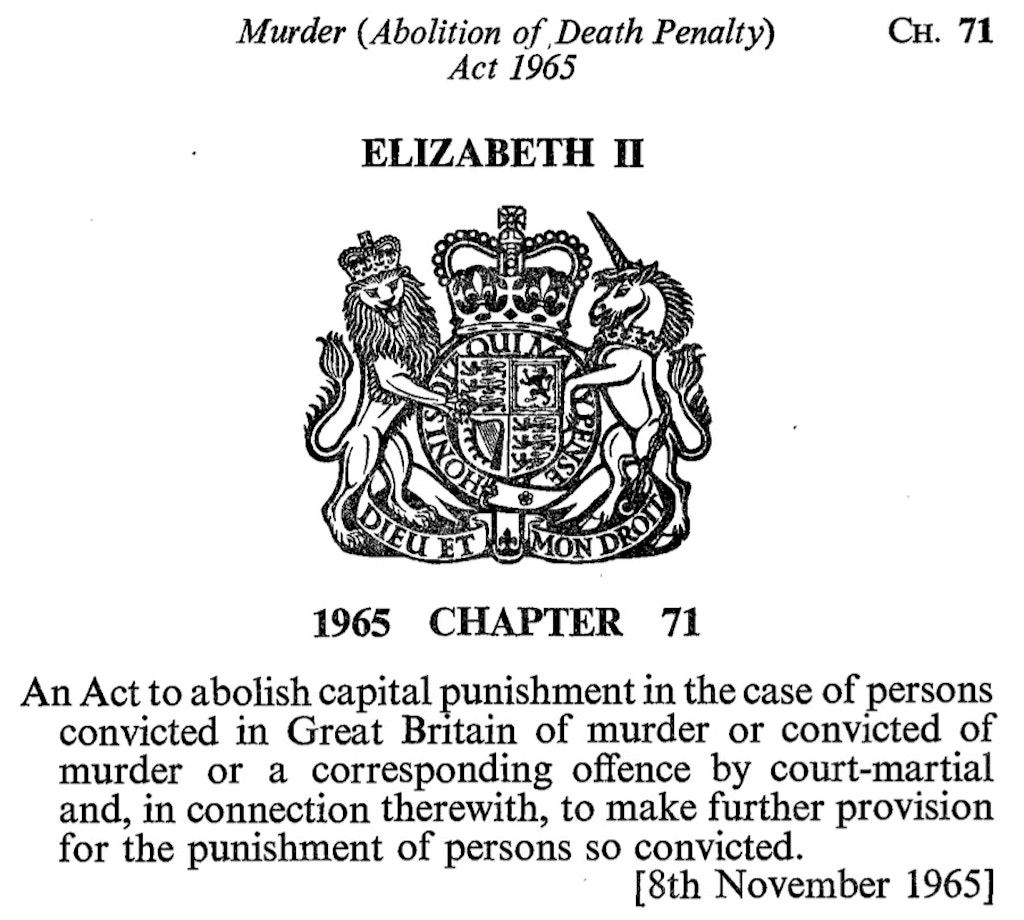 United Kingdom Marks 50th Anniversary of Death Penalty Abolition