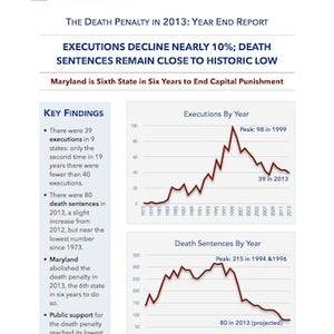 DPIC Releases 2013 Report, Showing Marked Decline in Death Penalty Use