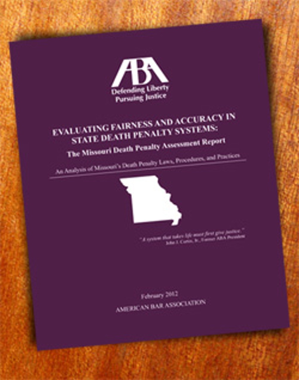STUDIES: American Bar Association Recommends Reforms to Missouri's Death Penalty