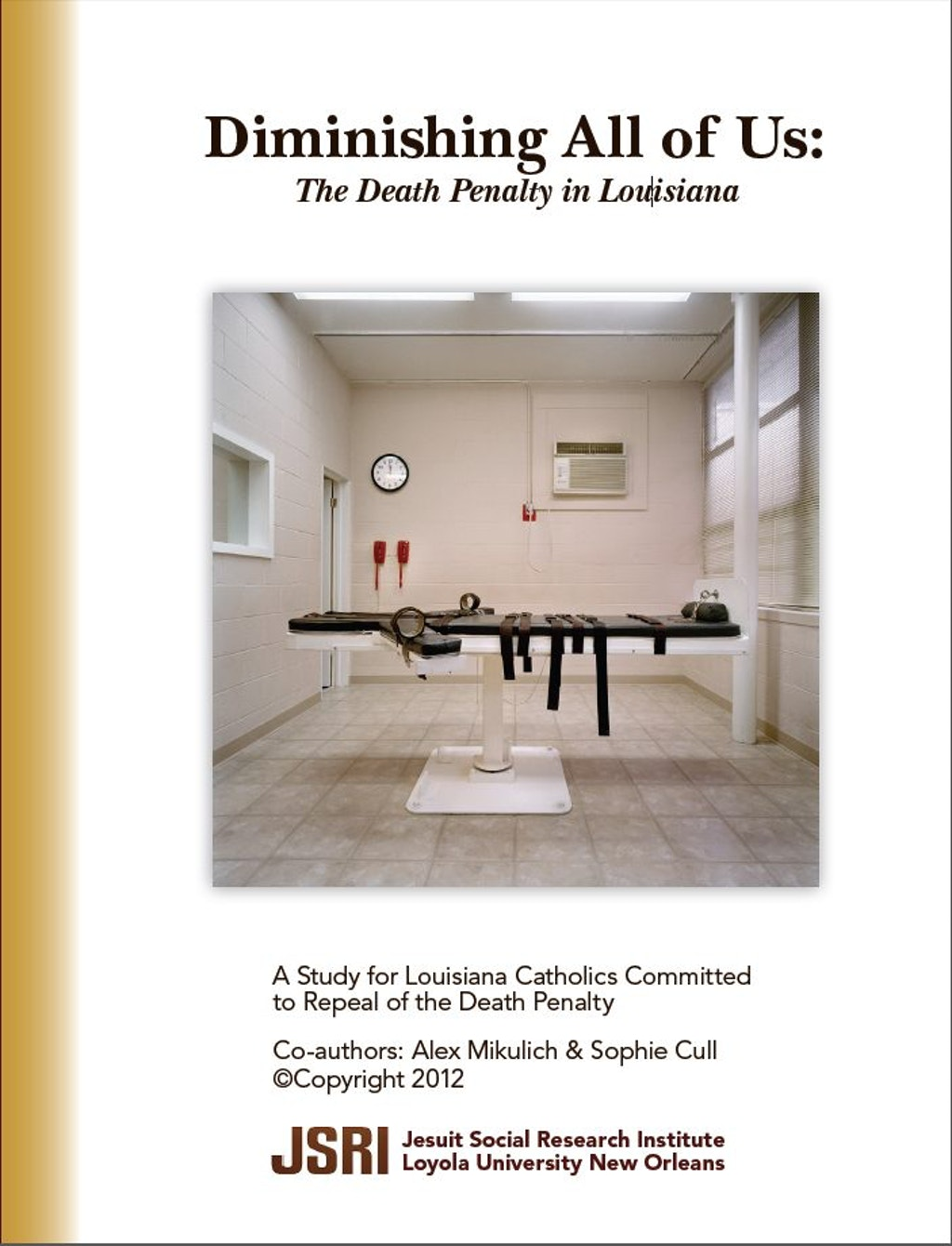 "RELIGIOUS VIEWS: ""Diminishing All of Us: The Death Penalty In Louisiana"""