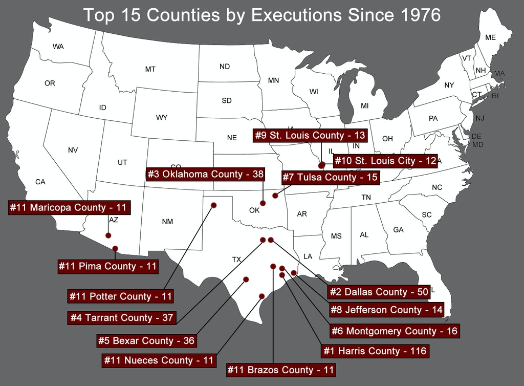 FROM DPIC: 'The Death Penalty by County' Underscores Geographic Disparities