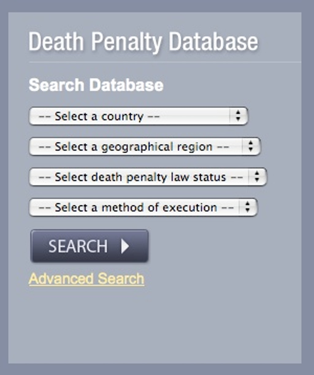 NEW RESOURCES: New Database for International Death Penalty