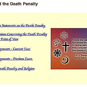 NEW RESOURCE: Religion and the Death Penalty Web Page