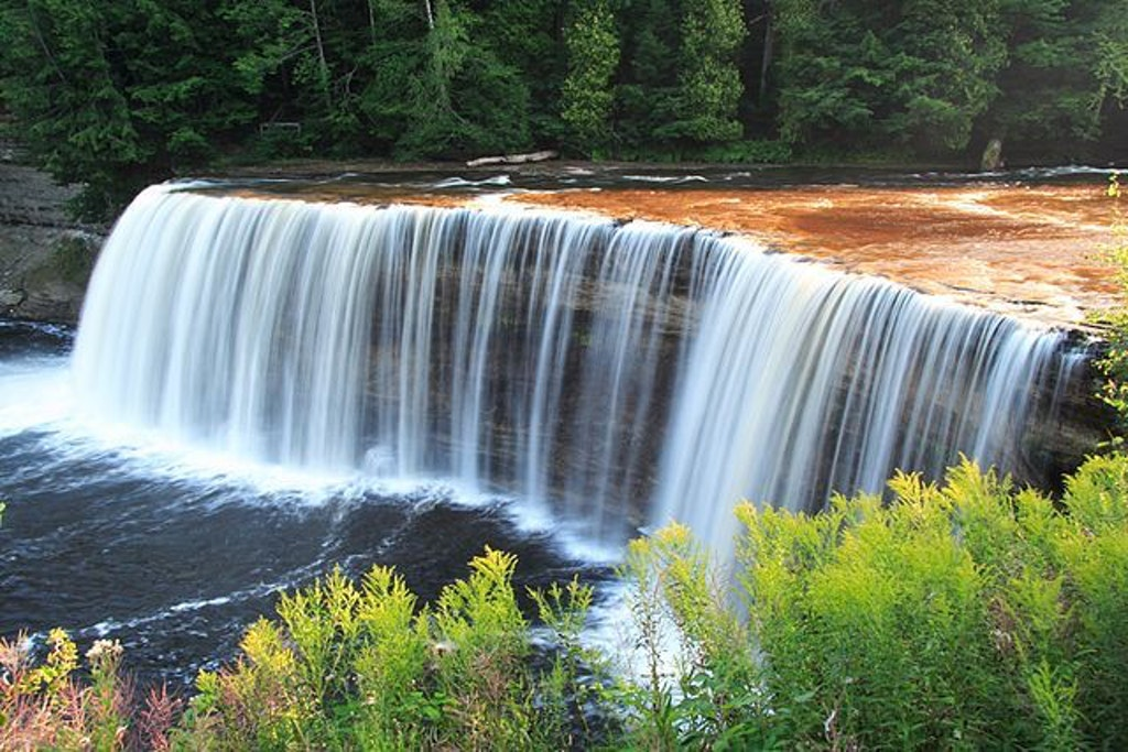 Tahquamenon Falls.  Photo by Attila Nagy.