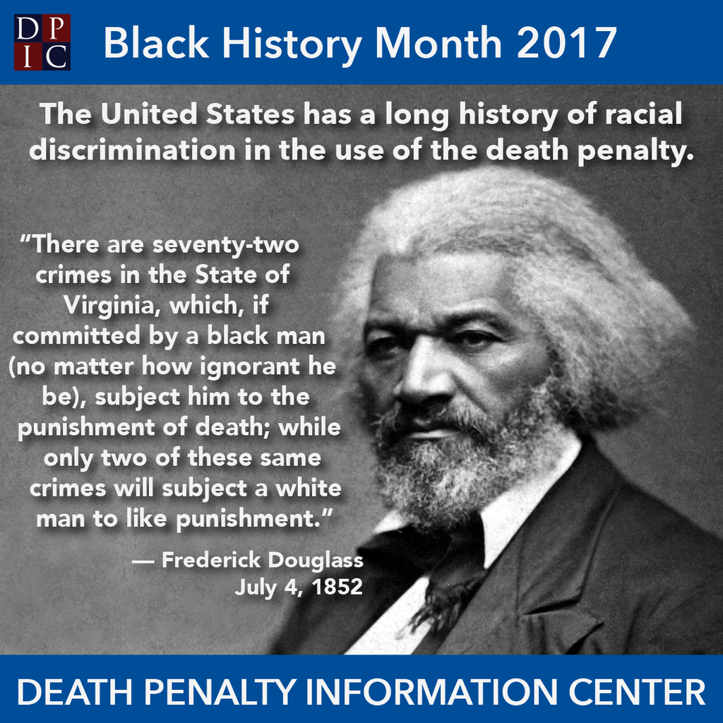 February 9, 2017: Frederick Douglass on the death penal