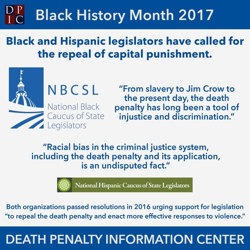February 2, 2017: Black and Hispanic legislators have called for the repeal of capital punishment.