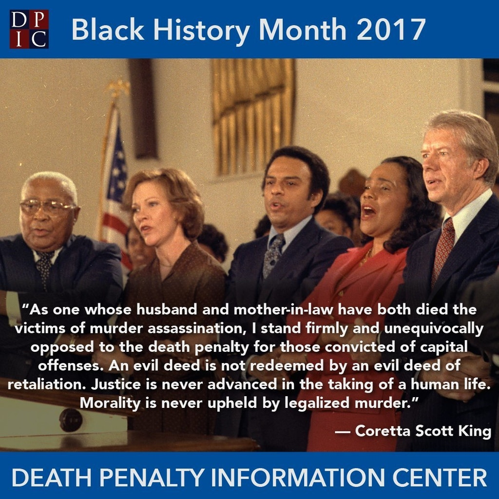 February 1, 2017: Coretta Scott King and the death penalty.