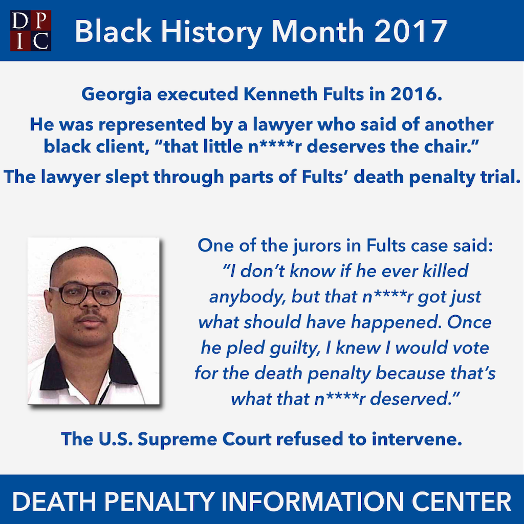 February 28, 2017: A Contrast in Outcomes:  The Cases of Duane Buck and Kenneth Fults