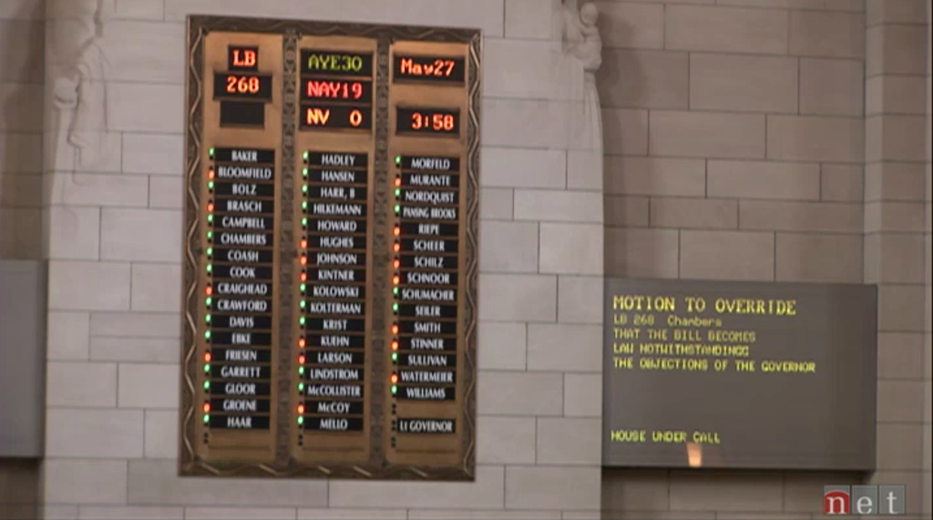 Photo from the Nebraska legislature.