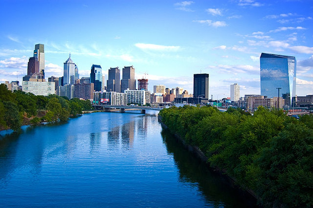 Philadelphia skyline. Public domain photo.