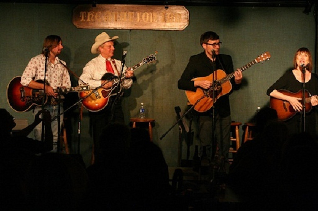 A bluegrass concert at Nashville's historic Station Inn.  Photo by James Staub.