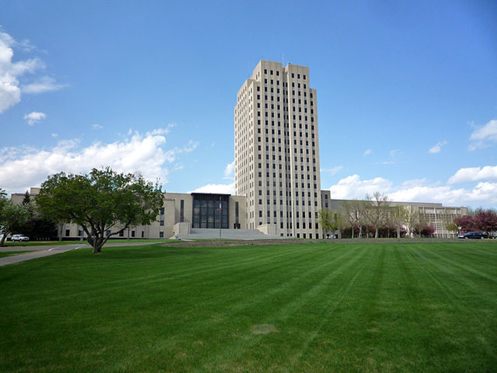 North Dakota State Capitol.  Photo by Bobak Ha'Eri.